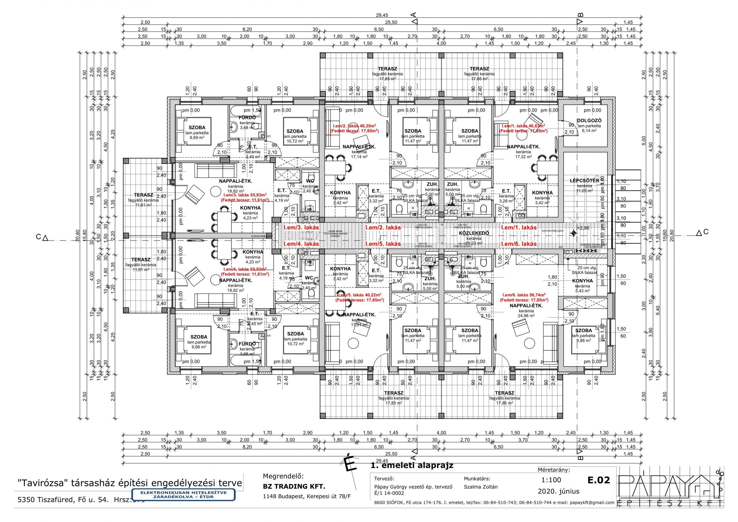 E.02 1. emeleti alaprajz