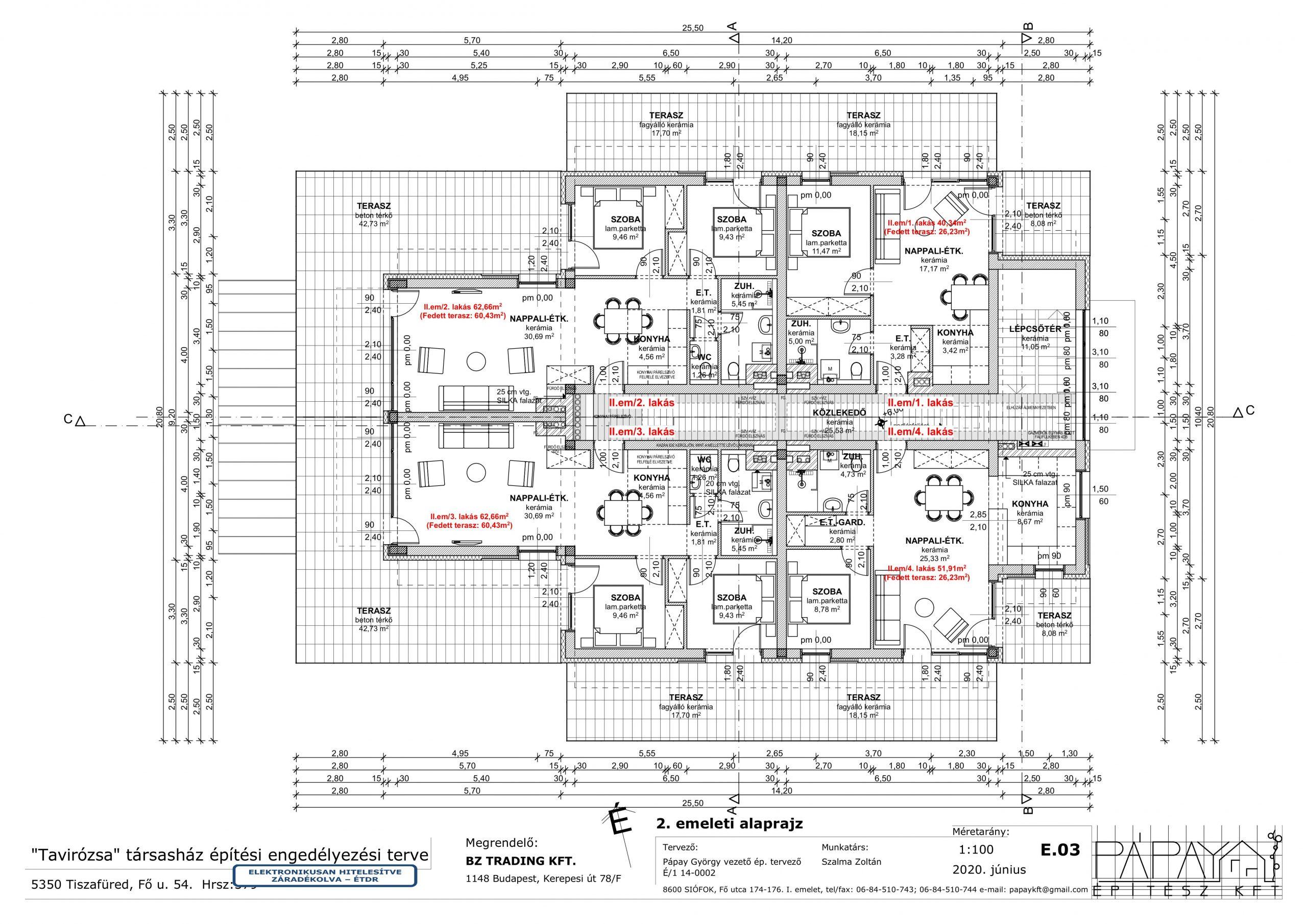 E.03 2. emeleti alaprajz